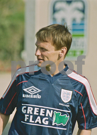 Teddy Sheringham training with the England World Cup Squad at La Manga Club, 25th May 1998