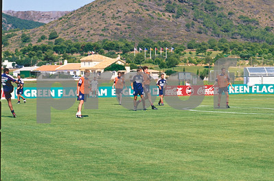 The England World Cup Squad 1998 training at La Manga Club, 25th May 1998