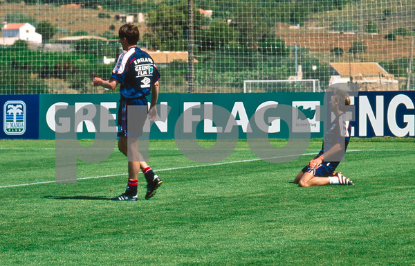David Beckham training with the England World Cup Squad at La Manga Club, 25th May 1998