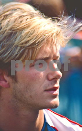 David Beckham with the England World Cup Squad at La Manga Club, 25th May 1998