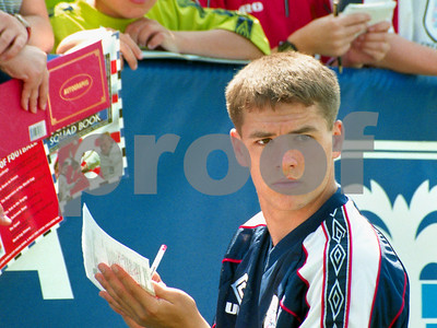 Michael Owen signing autographs at La Manga Club, 28th May 1998