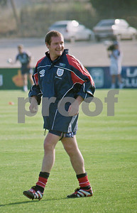 Paul Gascoigne training with the England World Cup Squad at La Manga Club Football Centre, 25th May 1998
