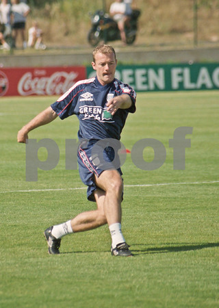 Alan Shearer training at La Manga Club with the England World Cup Squad, 1st June 1998