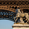Statue near Eiffel Tower