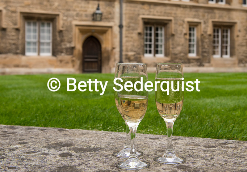 Champagne Toast at Trinity College, Oxford