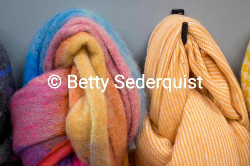 Bright Woolen Scarves, Foxford Woollen Mills