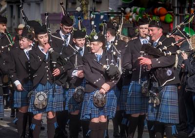 Bagpipers, St. Patricks Day Parade, Westport, Ireland