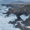 Atlantic Ocean Waves and Achill Island Shoreline, Ireland