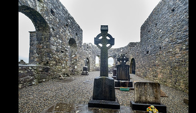 A Celtic Cross Looms in the Center of Turlough Round