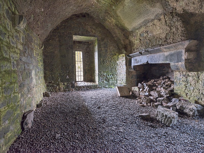 Fireplace, Quin Abbey