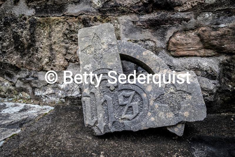 Broken Celtic Cross, Burrishole Abbey