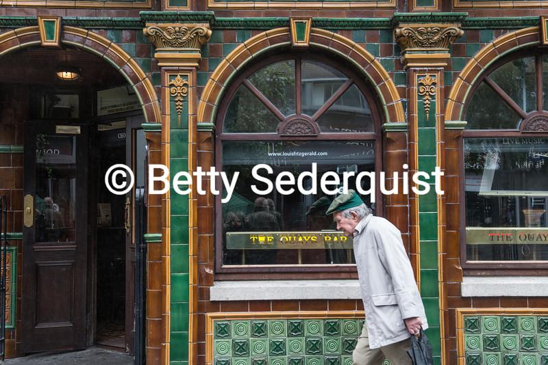 Pedestrian and Dublin Pub