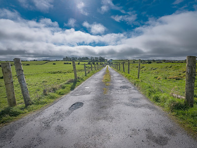 Potholes and Country Lane, near Ross Abbey