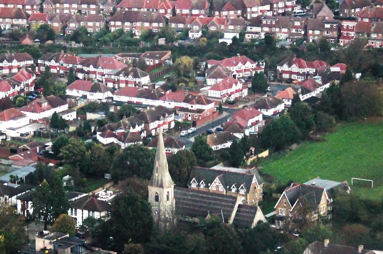Church and Row Homes