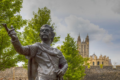 Statue of King Ethelbert, Canterbury, Kent, England