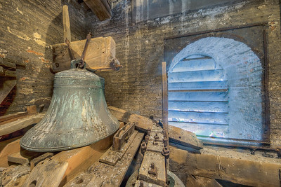 Inside belltower of St. Peter's Church, Sandwich, Kent, England