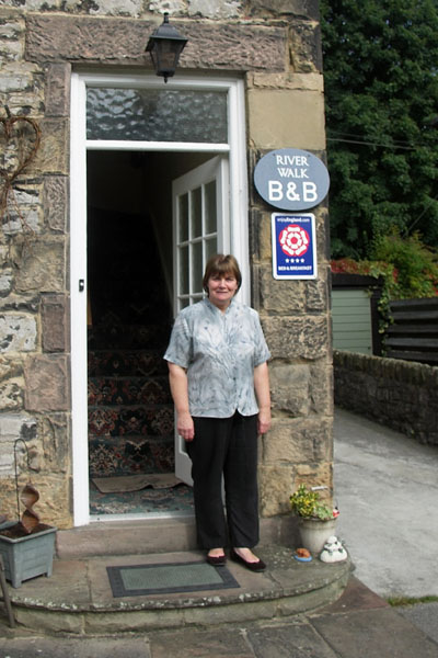 Jean, my bed and breakfast owner at Riverwalk. She made great breakfasts!