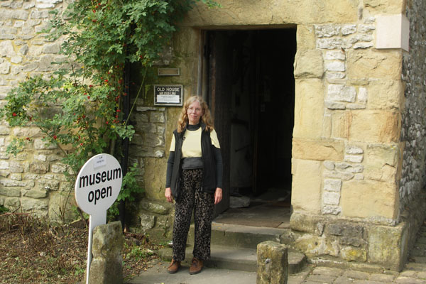 The Bakewell Old House Museum is atop a hill above town. Guess who is standing in the doorway of the Bakewell Museum?