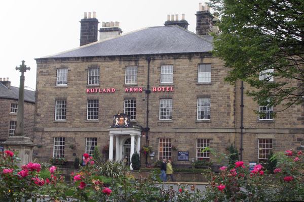 Front view of the Rutland Arms Hotel