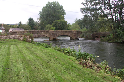 In Bakewell, my bed and breakfast, Riverwalk, was half a mile from the center of town, near an old bridge across the River Wye.