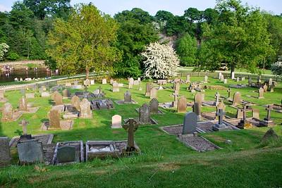 Historic graveyard at Bolton Abbey