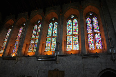 Gorgeous stained glass windows in Bolton Abbey