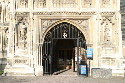Tourist entrance to Canterbury Cathedral