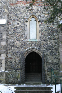 West door of St. Martin's Church.