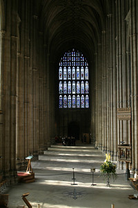 Nave, looking west.