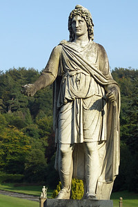 Statue behind Chatsworth, entrance to the garden. The first Duke?