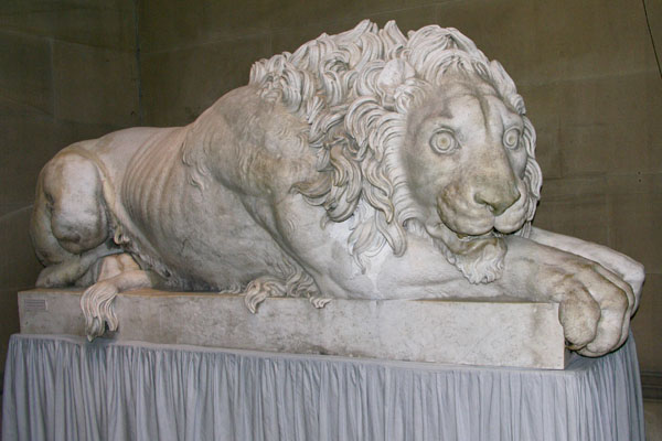 Another view of the Crouching Lion