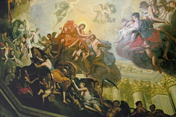 Painting, from a ceiling at Chatsworth.
