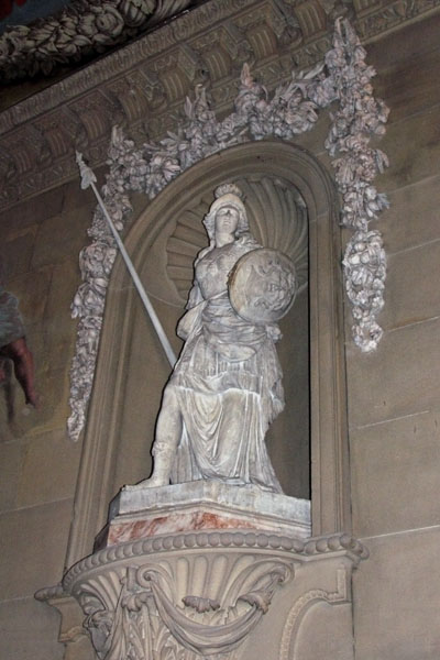 Another view of the Athena sculpture