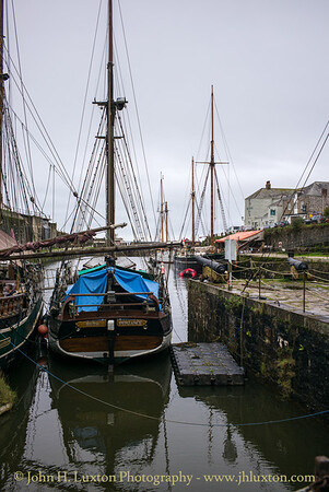 CHARLESTOWN, Cornwall, UK - October 31, 2019