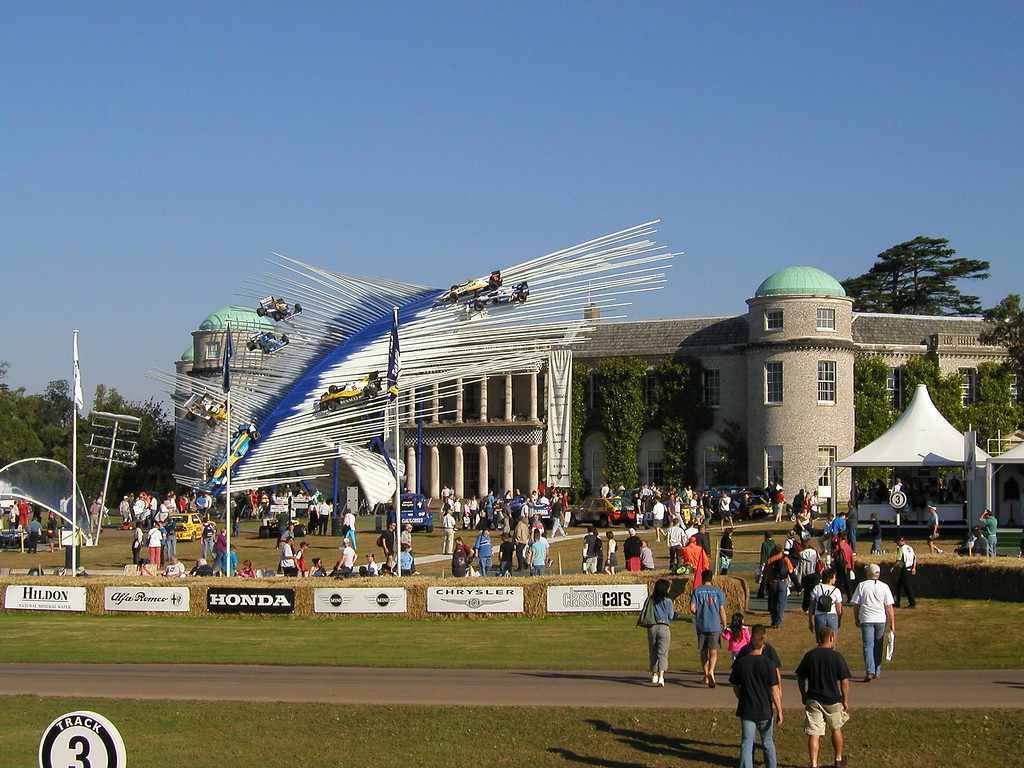 2002 Festival of Speed, Goodwood House Center Display, honouring Renault.