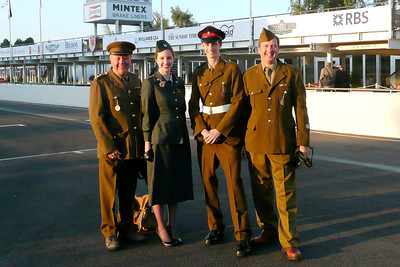 Goodwood 2008 our British Army  uniforms, Jen in US Army