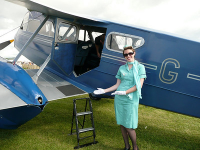 Our lovely flight hostess (Jennifer)  for 1932 De Haviland Rapide 2007 Goodwood Revival.  You can view the short video of the flight around Goodwood  at: www.aeriusphoto.com/Video-clips-from-our-Travels/2007-Goodwood-Revival-1930s-de/9118420_FLhVf#607820017_4z3LZ