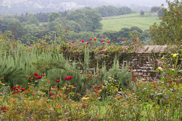 Haddon Hall, view from garden, looking out at the surrounding countryside