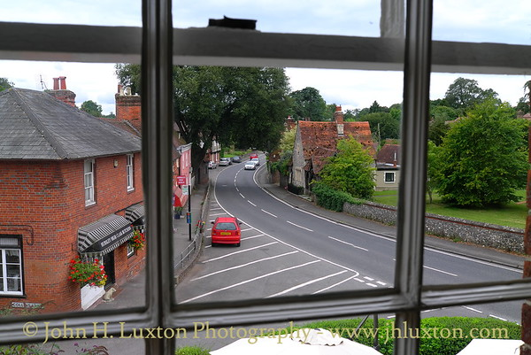 View of Hursley Village from the window of the historic King's Head coaching inn, near Winchester. August 2011