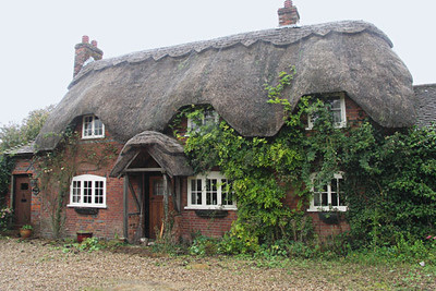I fell in love with the thatched cottages in Hampshire - several in Steventon