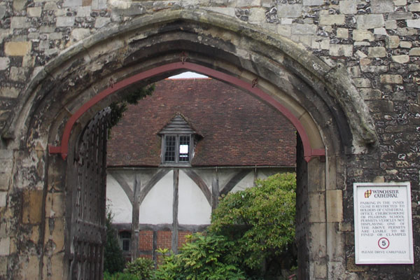 A view of a Tudor house from Winchester gate