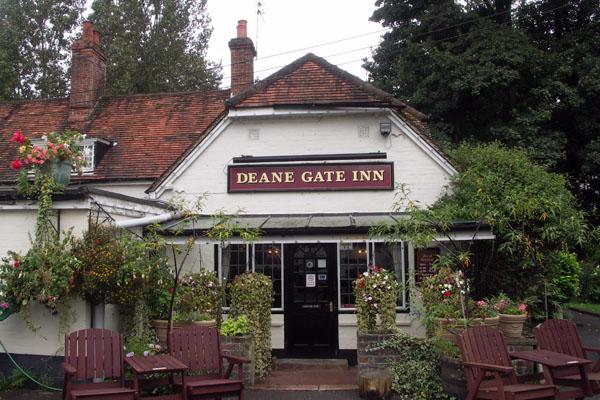 Deane Gate inn at Deane Gate near Steventon. An inn here was a major coaching stop in the late 18th and 19th centuries.