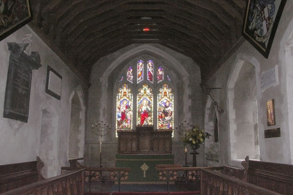 Another view inside Manydown church