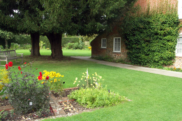 Again, the garden and lawn beside the Jane Austen museum