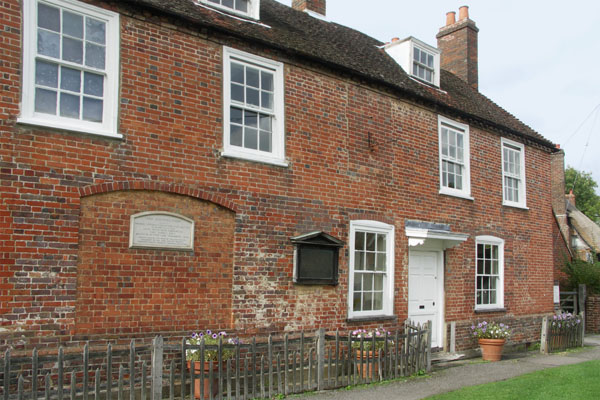 The front of the Jane Austen house museum in Chawton. This was Jane Austen's home the last decades of her life. She had previously been living in Bath after her father's death, eventually in poor accommodations in the lower part of town.