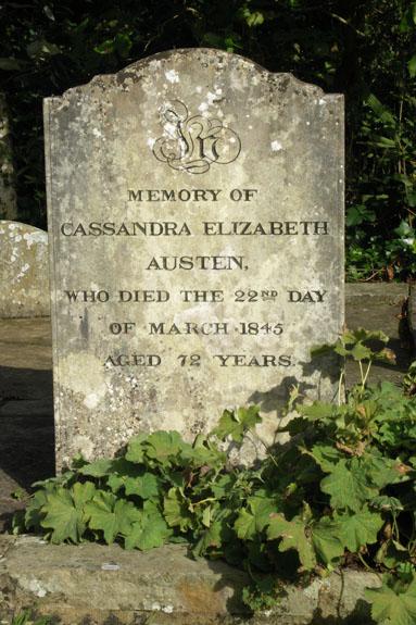 Grave of Jane's sister, Cassandra Elizabeth Austen