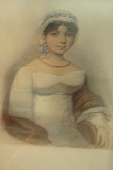 I'm not sure if this is portrait of Fanny Knight (Edward's daughter, with whom Jane corresponded) or one of the after-death portraits made of Jane by a family member. Anyone know?