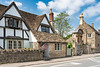 Historic houses and buildings in the medieval village of Lacock, Wiltshire, England.