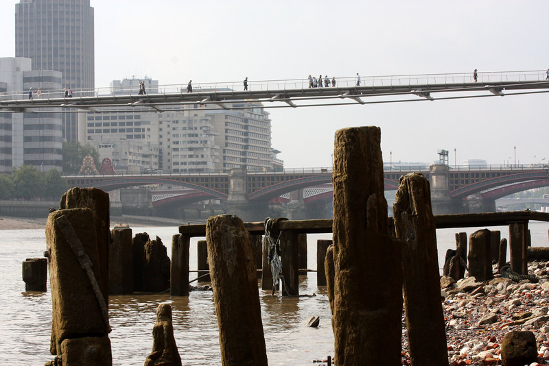 Low tide on the Thames.