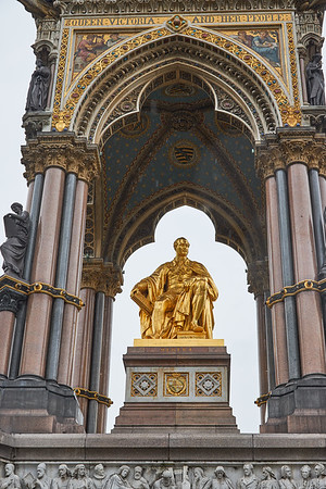 Prince Albert at Albert Memorial in Hyde Park
